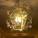 Blooming Roses Lantern.Romantica Lantern.Enamel finishing. Hand-painted wrought iron. Design: Gianni Cresci