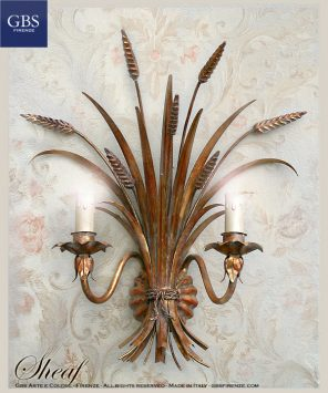 Sheaf Wall Sconce - One light Wall Lamp - Gold - Wrought iron