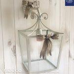 Lanterna Fiocco. Versione a parete. Per la cameretta e la sala da pranzo o la cucina shabby e country-chic