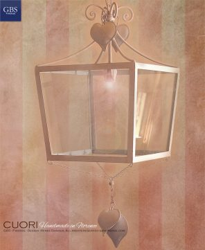 Lanterna di Cuori.Corazones.Lámparas Colgantes De Techo.Design Renee Danzer. Hierro forjado