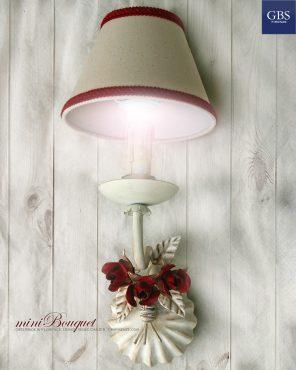 MiniBouquet Bocci di Rosa. Applique ad 1 Luce. Design Renee Danzer.