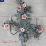 Rose Macchia. Applique a 2 Luci. Casa Shabby Romantica. Design Renee Danzer. GBS