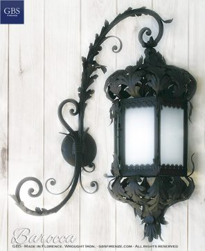 Baroque lantern. Matt Black. With forged arm version.