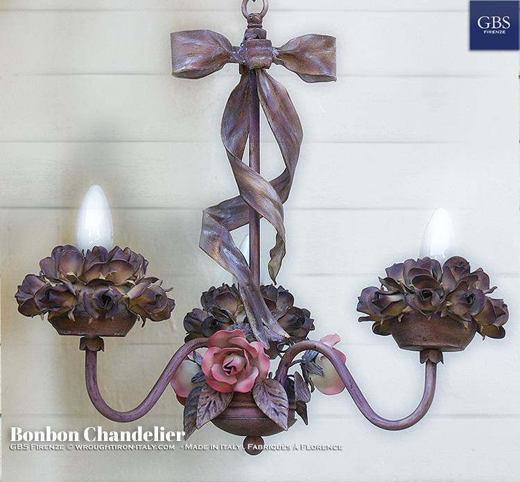 Lampadario Bonbon, versione a tre luci.